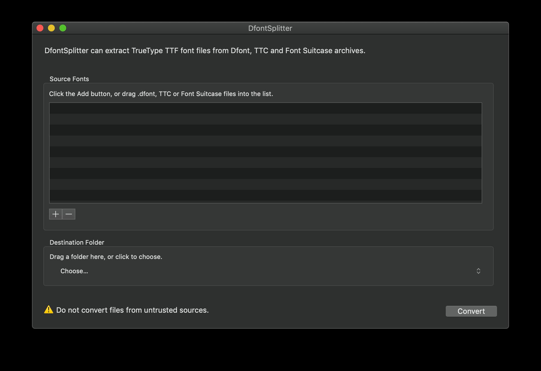 DfontSplitter for Mac